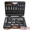 "108-piece Socket Set, 1/4"" + 1/2 ,  - ZIMBER-TOOLS"