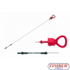 Oil dipstick AUDI-100, 655mm (ZR-36AOD) - ZIMBER-TOOLS