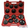 15pcs Cup Type Oil Filter Wrench Set - ZIMBER-TOOLS