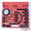 Diesel Engine Compression Tester Set Cylinder Pressure Meter Truck 17pc , ZK-865