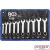Combination Spanner Set   extra short   10 - 19 mm   10 pcs -1188- BGS. technic. Germany.