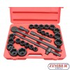 "Socket set 6-point impact socket and inch sizes 3/4"" - 27pcs. - (ZR-06AISS3427V) - ZIMBER TOOL"