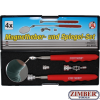 Magnetic Pick-Up Tool Inspection Mirror Set 4 pcs. (9197) - BGS technic