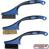 Mini Brush Set Nylon, Brass, Stainless Steel 165 mm 3 pcs. (9314) - BGS technic
