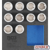 LOCKING WHEEL NUT REMOVAL SOCKET SET TOOL KIT FOR LAND ROVER 1 / 2- 10 pcs. (9553) - BGS technic