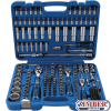 "Socket Set Hexagon | 6.3 mm (1/4"") / 10 mm (3/8"") / 12.5 mm (1/2"") Drive 