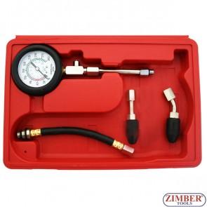 Συμπιεσόμετρο για κινητήρες βενζίνης , ZT-04154 - ZIMBER-TOOLS.