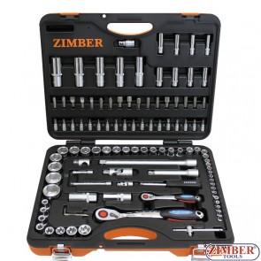 Εργαλειοθήκη σετ 108 τεμαχίων 1/4 - 1/2, ZR-01SS141210802-1 - ZIMBER TOOLS.