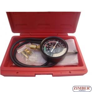 Κενού και πίεσης καυσίμου Αντλία δοκιμών Μετρητής Set, ZL-1622 -ZIMBER TOOLS.