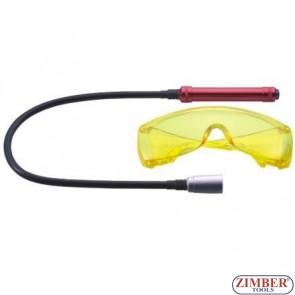 Λάμπα UV 12V και γυαλιά ανίχνευσης διαρροής A/C12V,ZR-36SLEDDL - ZIMBER TOOLS.