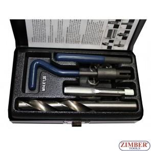 Για την επισκευή των χαλασμένων σπειρωμάτων - 9-piece  M14x1.25 - ZIMBER-TOOLS