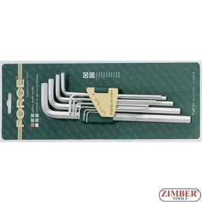 Σετ πολύ μακριά κλειδιά άλεν 10 τεμ. 5102XL - FORCE