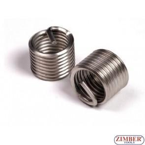 Thread insert-stainless steel  M10 x 1,25 x 13,5mm, 1бр. (ZR-36TIM10125) - ZIMBER-TOOLS