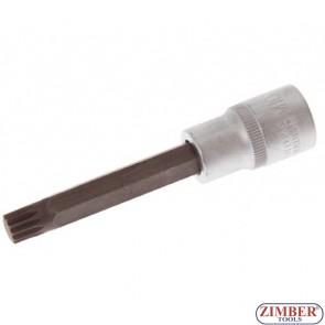 "1/2"" Bit Socket, Spline Sockets (XZN), 100 mm long, M5 - BGS"