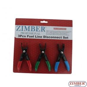 Πενσάκια σετ για σωληνάκια βενζίνας, ZR-36FLDS03-ZIMBER-TOOLS.