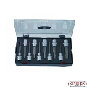"10pc 1/2"" Ribe Socket Bit Ribe Sizes Include: M5, M6, M7, M8, M9, M10, M12, M13, M14, M16 - FORCE"