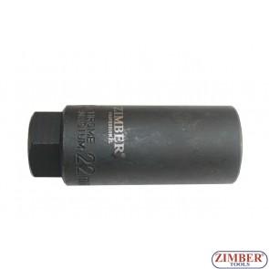 Καρυδάκι Ειδικό για Αισθητήρες Λάμδα  22mm, 3/8. ZL-6021  - ZIMBER TOOLS