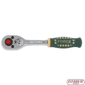 """1/4"""" Ratchet handle 155mmL 24 teeth 80222 - FORCE"""