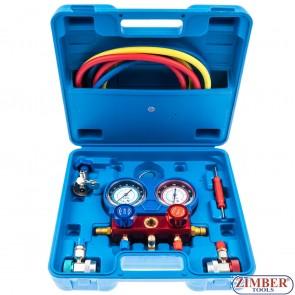 Κιτ ελέγχου πίεσης κλιματιστικών με μανόμετρο (8425) - BGS technic.