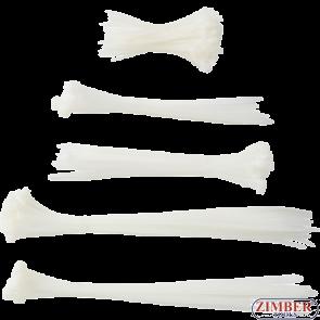Cable Tie Assortment white 100 x 300 mm 250 pcs. (80778) - BGS technic