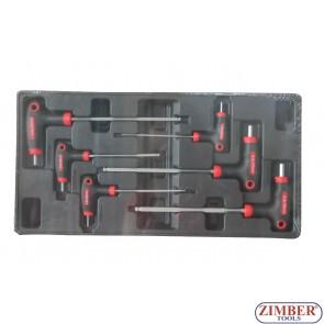 Σετ Κλειδιά Άλλεν με λαβή Ταφ 6τμχ- ZT-00806 - SMANN TOOLS.