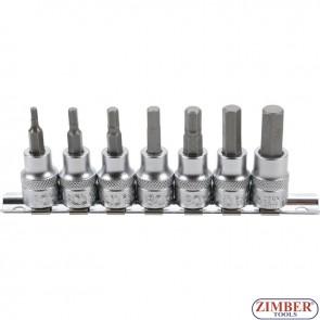 Καρυδάκια allen 3 - 10 mm 3/8 σετ 7 τεμαχίων (5107) - BGS technic