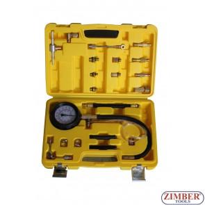 Πιεσόμετρο βενζίνης με 17 εξαρτήματα, ZK-1360