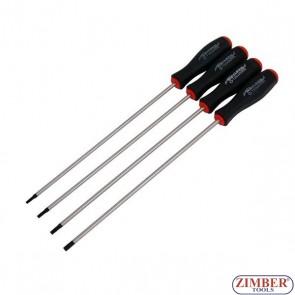 Κατσαβίδια torx έξτρα μακριά σετ T15, T20, T25, T30-250-mm, 2899- NEILSEN