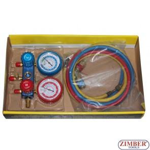 A/C Air Conditioning Ac Refrigerant Manifold-Gauge Set