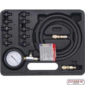 Συμπιεσόμετρο λαδιού σετ 0 - 10 bar, - 98007 - BGS technic