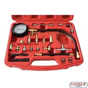 Πιεσόμετρο βενζίνης με 17 εξαρτήματα,ZT-04105A- SMANN TOOLS