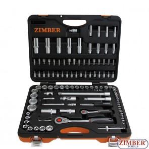 Εργαλειοθήκη σετ 108 τεμαχίων 1/4 - 1/2, ZR-01SS141210802-2 - ZIMBER TOOLS