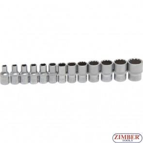Καρυδάκια πολύγωνα 1/4 σετ 13 τεμαχίων   4 - 14 mm   13 pcs. 2269 - BGS- technic.