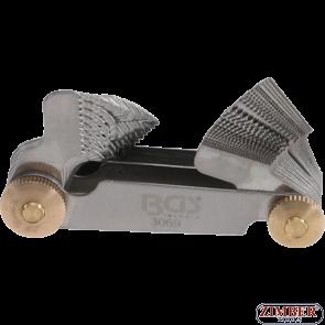 Twin Screwpitch Gauge, 52 Blades | Metric 0.25 - 6.0 mm, Whitworth 4G - 62G- 3069- BGS-technic.