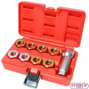 9 pcs Thread Restoring Die Set - ZIMBER TOOLS