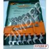 К-т ключове с тресчотка 72 зъба 8 броя - JONNESWAY