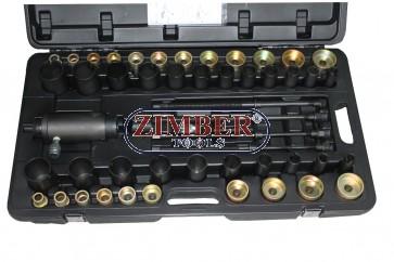 Hydraulic Steering System Pull Tool Set (49pcs) ZR-36HSSPUTS - ZIMBER TOOLS.