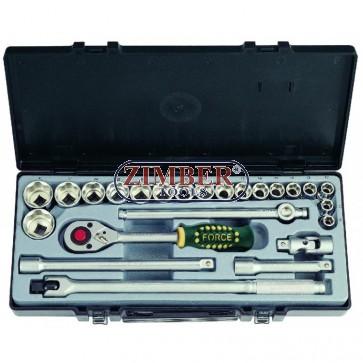 Набор инструмента 1/2 24пр. 5/16-1 1/4 - (4243S) - FORCE