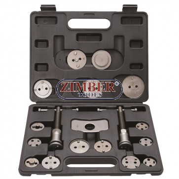Brake Piston Reset Tool Set | 18 pcs.-1110-BGS technic.