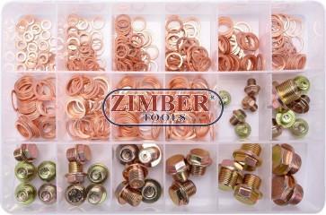 Oil Drain Plug Screws and Aluminium Seal Ring Assortment | 534 pcs.8119- Bgs technic.