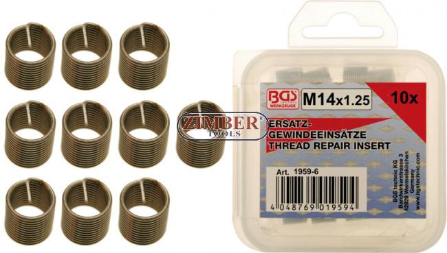 BGS 9437 Gewinde-Reparatursatz 1.0 14-tlg M12 x 1,0