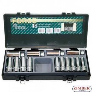 "1/2"" Deep socket set 14pc. (4143-9) - FORCE"
