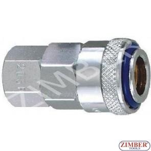 """Накрайник за въздух 3/8"""" ZDC-2 стомана - ZIMBER"""
