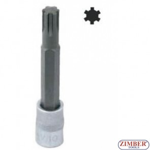"""1/2"""" Bit Socket, Ribe, М13 x 100mm (S63H4313) - JONNESWAY"""