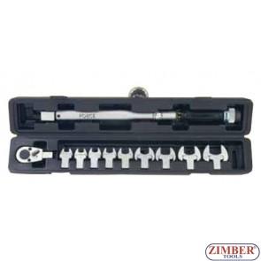 "Ключ динамометрический 1/2"" 40-200Nm, рожковые 13мм-30мм, 11пр. (64705) - FORCE"