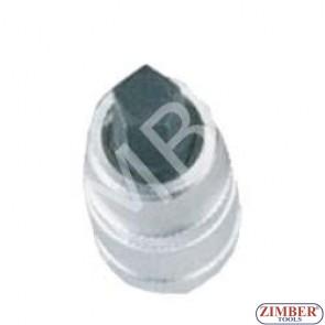 """Pentagon bit socket for Girling brakes 10mm 1/2"""" (ZL-6236) - ZIMBER TOOLS"""