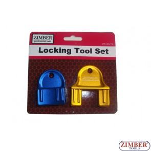 Набор инструмента для фиксации двигателя - Vauxhall/Opel, Chevrolet, Saab - EcoTec 1.4, 1.6, 1.8, 2.0, 2.2 16v - Belt Drive, ZR-36LTS  - ZIMBER TOOLS