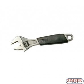 """Adjustable Wrench, Soft Rubber Handle, 6"""" 150-mm, (1440) - BGS technic"""