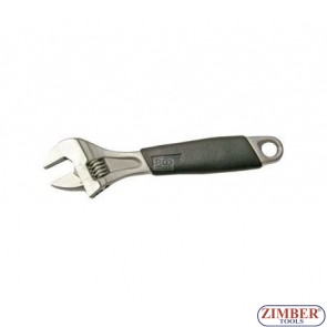 """Adjustable Wrench, Soft Rubber Handle, 8"""" 200mm. (1441) - BGS technic"""