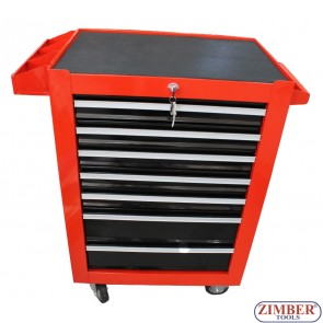 Шкаф за инструменти с колела - 7 отделения